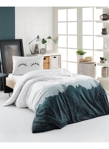 EnLora Home Enlora %100 Doğal Pamuk Nevresim Takımı Tek Kişilik Eyelash  Beyaz